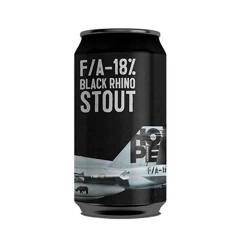 Hope Brewery F/A- 18% Black Rhino Stout Can 375mL