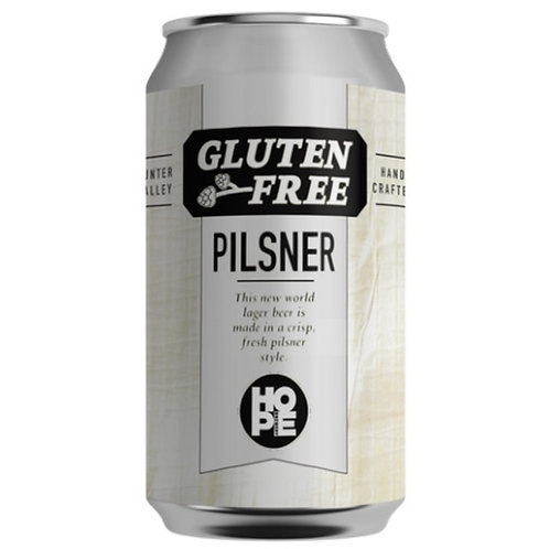 Hope Brewery Gluten Free Pilsner 4.5% Can 375mL