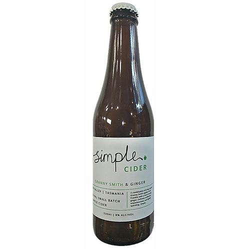 Simple Cider Granny Smith & Ginger 8% Btl 330mL