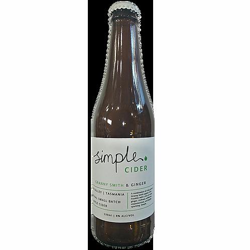 Simple Cider Granny Smith & Ginger 8% Btl 330mL
