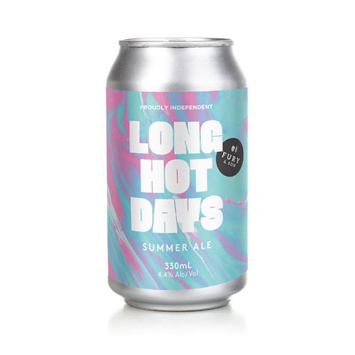 Fury & Son Brewing Long Hot Days Summer Ale 4.4% Can 375mL