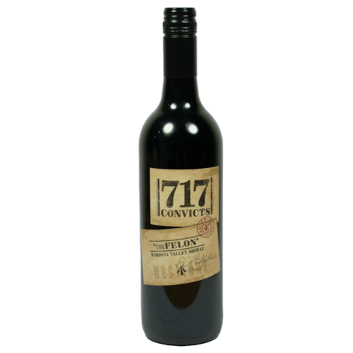 "717 Convicts 2018  Barossa Valley  "" The Felon "" Shiraz Btl 750mL"