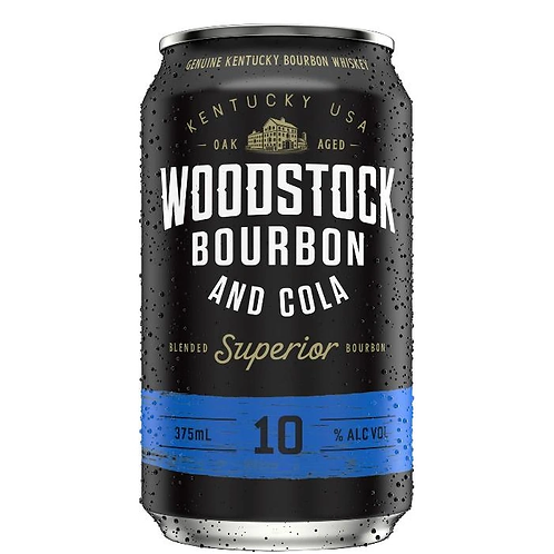 Woodstock Bourbon & Cola 10% Can 375mL