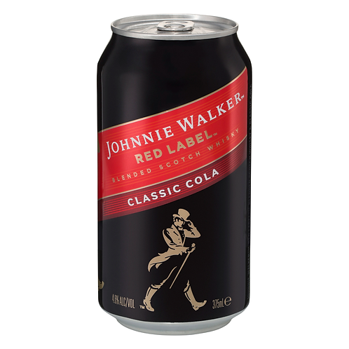 Johnnie Walker Red Label Scotch & Cola 4.6% Can 375mL
