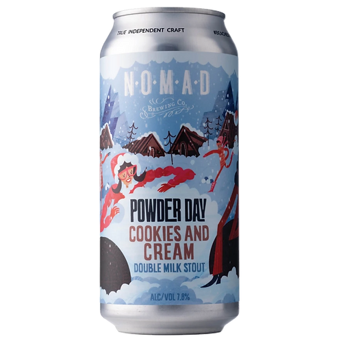 Nomad Double Milk Stout Powder Day Cookies and Cream 7.8% 440mL