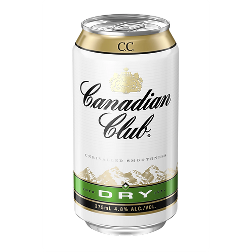 Canadian Club Whiskey & Dry 4.8% Can 375mL