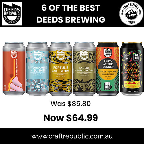 Deeds Brewing 6 of the Best Pack 440mL