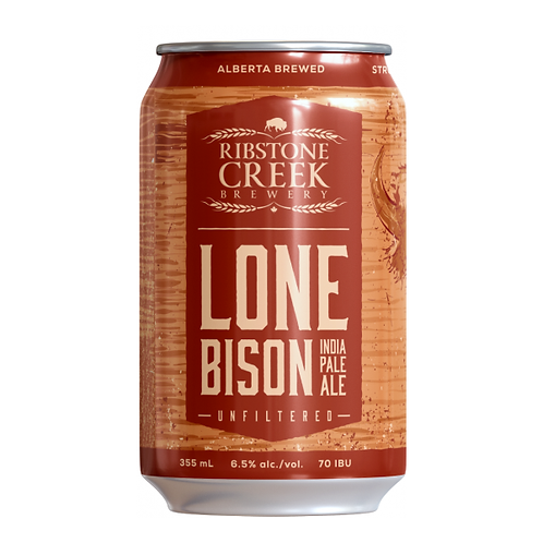 Ribstone Creek Brewery Lone Bison IPA 6.5% Can 355mL