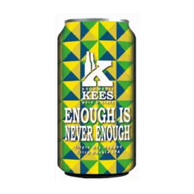 Kees Brouwerij Enough is Never Enough TDH DIPA 10.2% Can 330mL