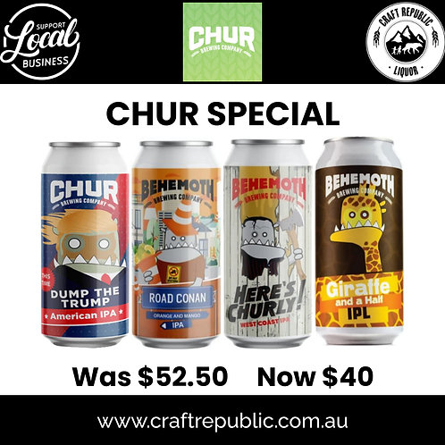 Chur Brewing (New Zealand) 4 Pack Special 4x440mL