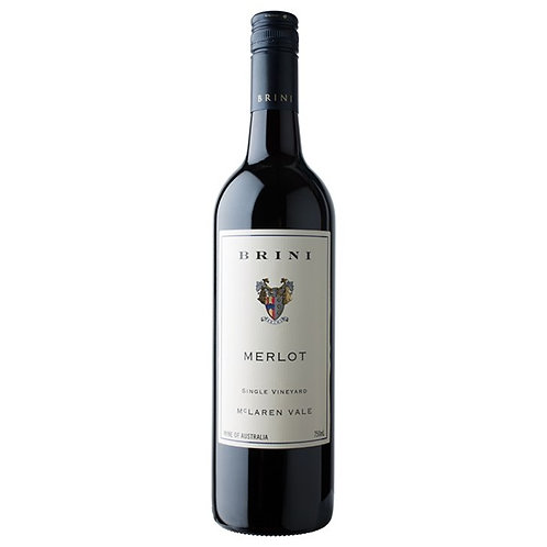Brini Estate 2015 McLaren Vale Single Vineyard Merlot Btl 750mL