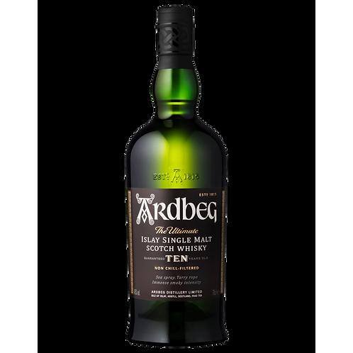 Ardbeg 10 Year Old Islay Single Malt Scotch Btl 700mL