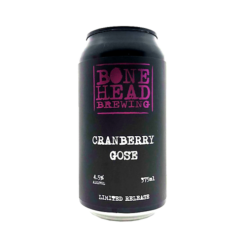 Bonehead Brewing Limited Release Cranberry Gose 4.5% Can 375mL