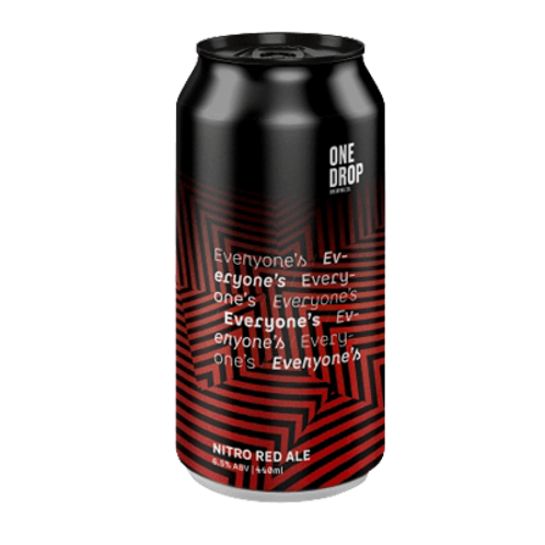 One Drop Brewing Co Everyone's Nitro Red Ale 6.5% Can 440mL