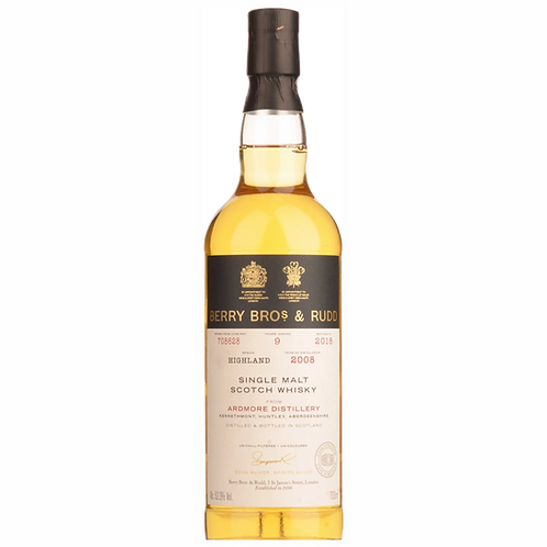Berry Bros / Ardmore 9 Year Old Single Maltr Scotch Whisky 52.3% 700mL