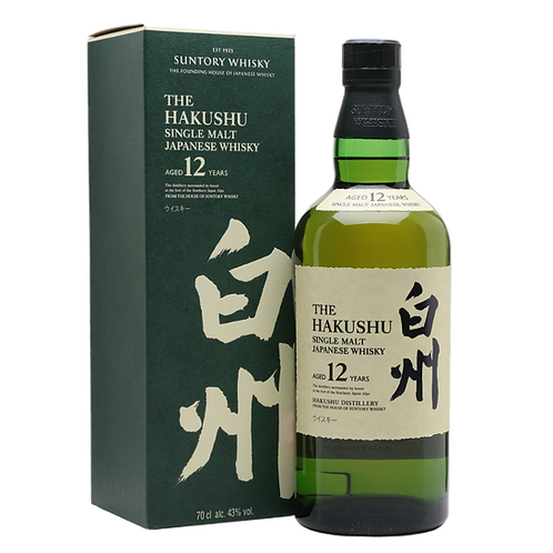 Suntory The Hakushu 12 Year Old Single Malt Japanese Whisky 43% 750mL