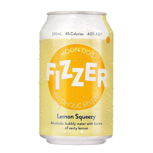 Fizzer Lemon Squeezy Seltzer 4% 330mL