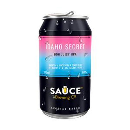 Sauce Brewing Idaho Secret DDH Juicy DIPA 8% Can 375mL