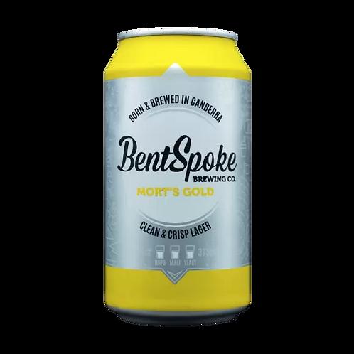 Bentspoke Mort's Lager 4.4% Can 375mL