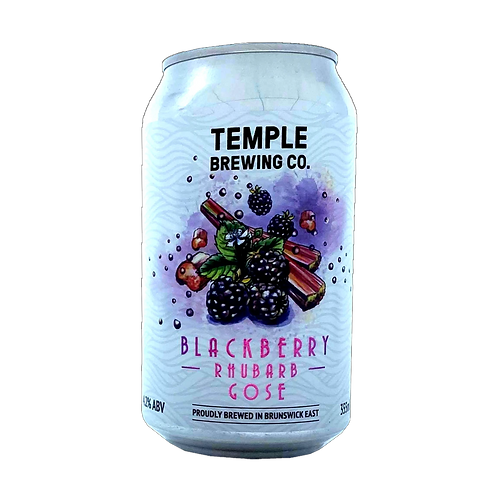 Temple Brewing Blackberry & Rhubarb Gose 4.2% Can 355mL