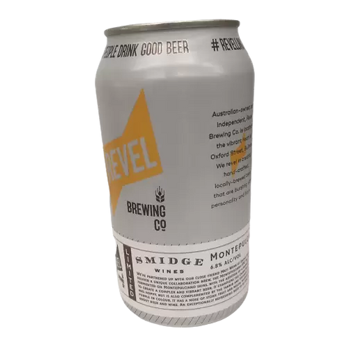 Revel Brewing Co / Smidge Wines Collab Montepulciano IPA 6.8% Can 375mL