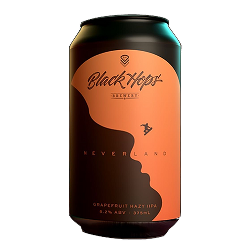Black Hops Brewery Neverlands Grapefruit Hazy DIPA 8.2% Can 375mL