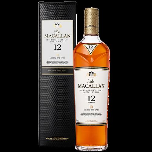 The Macallan 12 Year Old Sherry Oak Cask 40% 700mL