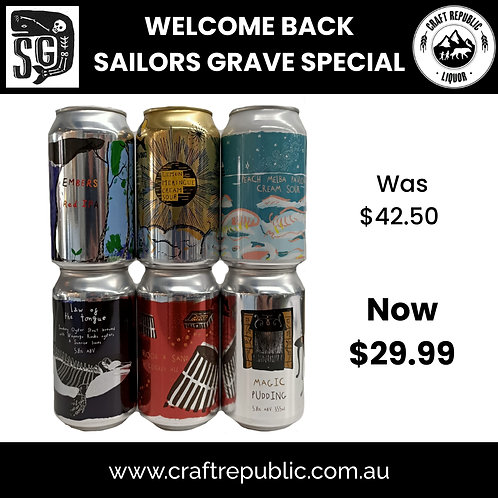 Sailors Grave - Welcome Back Pack 6 x 355mL