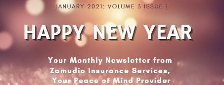 Happy New Year - Winter Driving Tips, Home Inventory Tips, and Policy Reviews