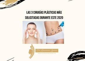 Las 3 cirugías plásticas más solicitadas durante este 2020