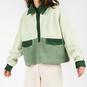 House Of Sunny Green and white sweater