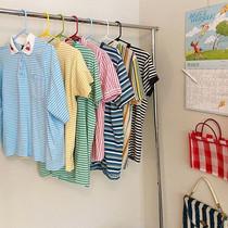 Stripe shirts on rack