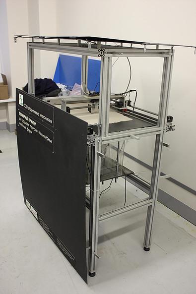 Построен рабочий макет 3D принтера