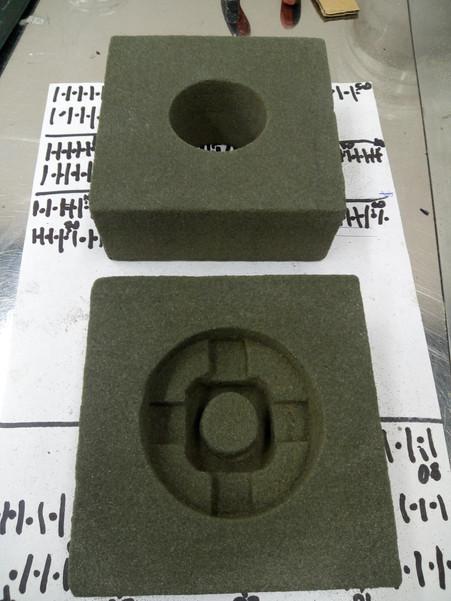 Изготовлена новая песчано-полимерная  форма
