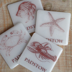 Cornish Glass Coasters