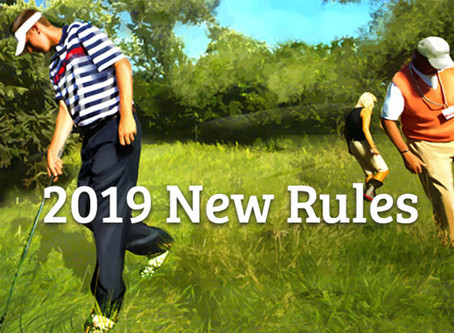 Golf Rule Changes in 2019