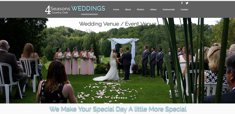 New Wedding Website 4 Seasons Country Club Weddings