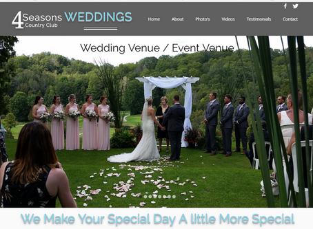 New Website to Promote 4 Seasons Weddings and Special Events