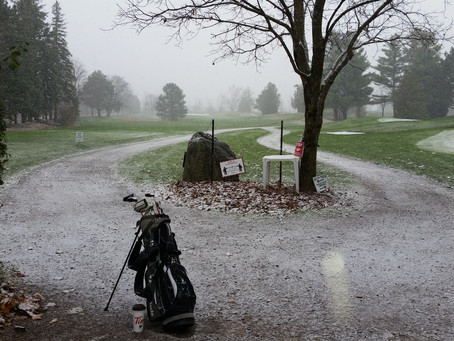 Its looking a little winter like today...Putting in the snow gives a whole new challenge to the game