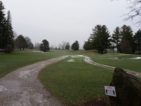 Looking green again..  Course open Dec 21 & 22.  Be sure to wear your winter boots.