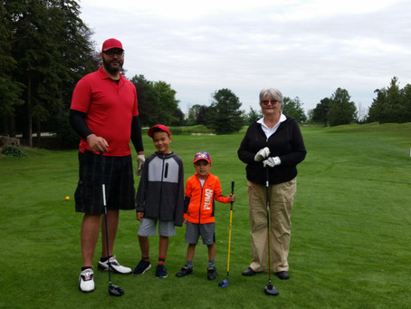 Launching Take a Kid to the Course today...Three generations Lovatt family out for a round today.