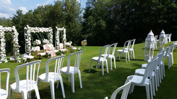 Social distancing for the ceremony