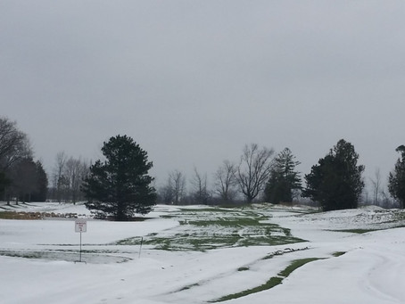 Grass is starting to peek through.  OPENING Dec 13 & 14th. Wear winter boots, use colored golf balls