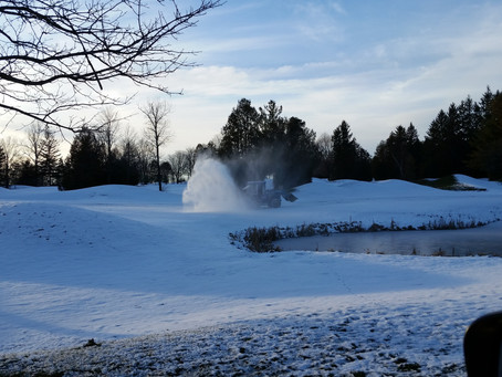 Out blowing snow today.  Now need some mild temps to take away the rest of the snow; TBA...