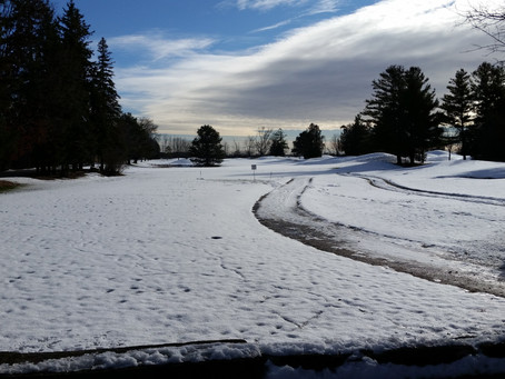 The difference of being north of Hwy 7. If the snow goes we will open 9 on the upper; stay tuned