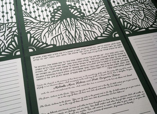 Michaela and Scott's Ketubah