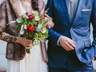 Meghan and Thomas' blue skies wedding