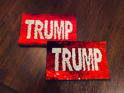 2 or 20 Trump to Flag Design - Iron On Patches - FREE SHIPPING