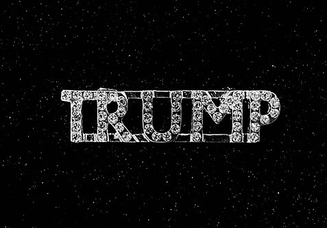 2 Rhinestone Pins: TRUMP and/or  THE BEST IS YET TO COME