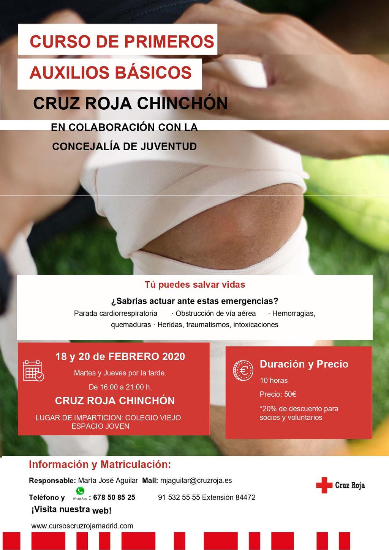 Resultado de imagen de CURSOS DE LA CRUZ ROJA CHINCHON